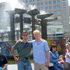 Sam Routhier, Mike Hedlund<br /> <br /> With Mike at Alexanderplatz, East Berlin