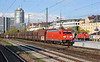 Still looking clean and new DB 185.401 heads north through Munchen Ost on 15 April 2011