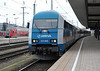 Alex 223.069 is at the head of the Nurnburg to Praha service at Nurnburg Hbf. on 17 April 2011