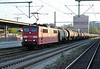 A tank train heads through Munchen Ost behind DB 151.144 on 15 October 2011