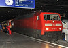 DB 120.126 has brought the stock for the City Night Line service into Munchen Hbf. on 15 April 2011