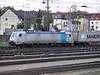 Railpool 185.638 heads north through Wurzburg on 17 April 2011