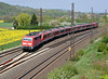 DB 111.204 picks its way over the crossings at Retzbach-Zellingen on 19 April 2011