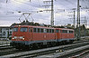 A pair of locos, DB 110.322 and 110.316, roll past Munchen Pasing on 30 October 2008 on their way to pick up empty stock
