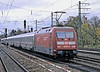 Getting into its stride as it passes Munchen Pasing DB 101.015 is at the rear of an IC service on 30 October 2008