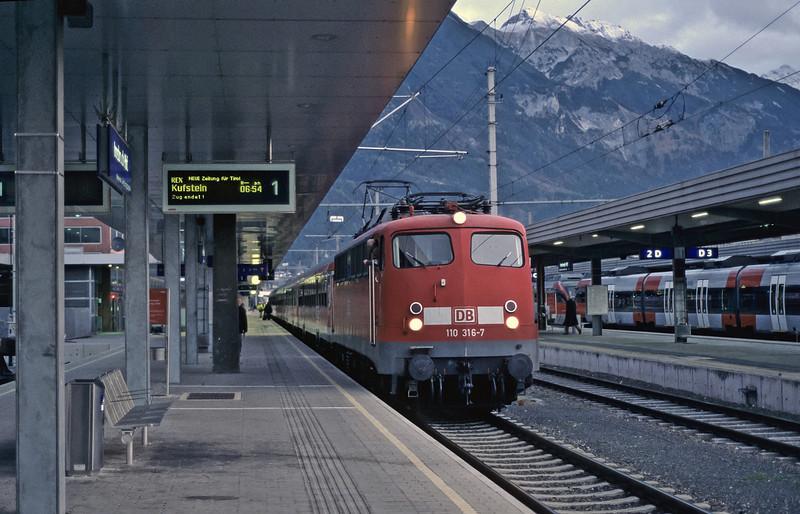 DB 110-316 Innsbruck 31 October 2008