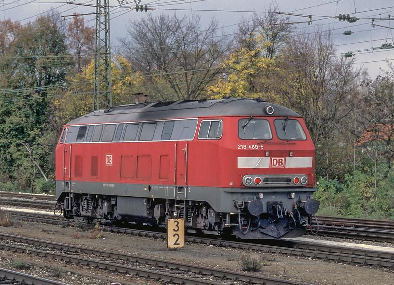 DB 218-469 Munchen Pasing 30 October 2008