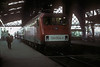 DR 156.004 waits for departure time at Dresden Neustadt with an express for Cottbus on 6 November 1993