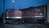 DR 202.701 and 232.272 are lit by flash in the yard at Bw Magdeburg on 26 November 1992