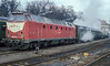 DR 219.087 has been repainted into the 'new red' scheme in this shot at Meiningen on 29 November 1992