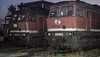 DR 232.148 and 232.418 are seen in the yard at Bw Erfurt on 29 November 1992