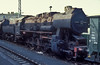 Dumped steam engines could turn up anywhere in 1990 - 52.8103 is alongside the platforms at Leipzig Bayerische Bahnhof on 26 July