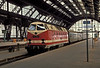 DR 119-159 pulls into Leipzig Hbf. on 26 July 1990 before ex-DR locos were renumbered into the combined re-unification scheme