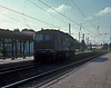 DR 120.195 runs light engine through Neukiertzsch on 26 July 1990 - with the sun in the wrong direction, of course!