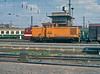 DR 106.930 engages in a spot of shunting at Leipzig Hbf. on 26 July 1990