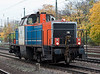 Alsthom Leasing rebuild 214-011 (previously 212-121) is painted for NBE Rail as it passed light engine
