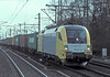 Siemens Dispolok ES64U2-035 passes Hamburg Harburg on 8 March 2006