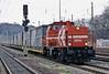 HGK DE93 heads south with an intermodal