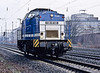 Spitzke Logistic (a track maintenance company) rebuilt DR loco V100-SP-005 passes Oberhausen West on 2 March 2010