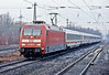 DB 101.080 runs into Gelsenkirchen Hbf. with IC2333 on a frosty 2 March 2010 morning