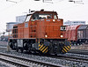Having taken its load of wagons to their destination RHB 823 returns through Oberhausen West on 2 March 2010