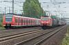 DB 424-017 + 424-026 and DB 185-072 Wunstorf 13 September 2018