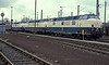 DB V200 locomotives, 221.113, 221.149, 221.138 and 221.144, at Bw Wanne Eickel on 26 March 1988