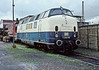 The last of the breed! Probably already withdrawn from active service at this point as it has been re-numbered with its original number before joining the DB Museum fleet 221.116 languishes at Bw Oberhausen Osterfeld Sud on 26 February 1990