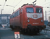 DB 140.603 has had a coat of the new red livery when seen at Bw Mannheim on 28 January 1989