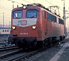 DB 110.185 at Bw Stuttgart on 29 January 1989