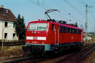 111 085 at Rheine on 13th April 2003