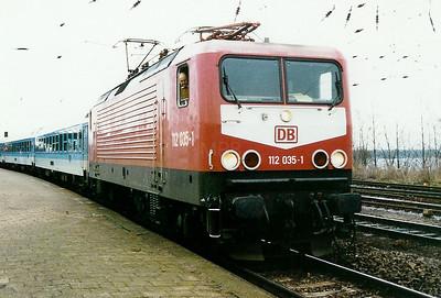 112 035 at Bad Kleinen on 13th December 1997