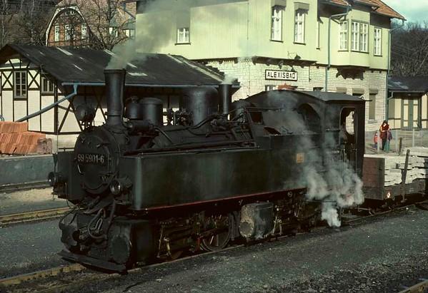 Deutsche Reichsbahn 99 5901, Alexisbad, Sat 12 February 1977 2.  Photo by Les Tindall.