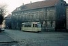 Tramcar No 44, Nordhausen, Sat 12 February 1977.  The metre gauge tram stands at the terminus at Altentor.  Photo by Les Tindall.