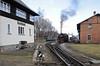 99 787, Bertsdorf, Tues 8 February 2011 2 - 1217 ...takes water by the impressive signalbox...