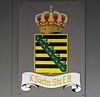 Royal Saxon State Rlys crest, Zittau, Tues 8 February 2011