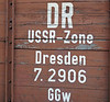 Former DR wagon, Bertsdorf, Tues 8 February 2011.  A reminder that Saxony was in former East Germany.