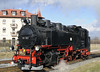 99 787, Bertsdorf, Tues 8 February 2011 - 1211.  787 runs round its train...