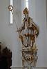 A saintly statue