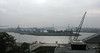 Very foggy day in the port of Hamburg