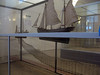 One of the models of types of fishing boats and their nets in Altona Museum