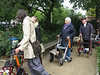 Choir (not elderly) went along with their walkers, enjoying their singing