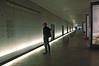 Interior of the very stark Exhibition/Documentation Center at Bergen-Belsen