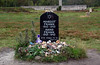 Memorial to Margot and Anne Frank at Bergen-Belsen, where they died of typhus a month before the camp was liberated