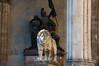 An impressive lion in Odeonsplatz