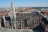 The Neues Rathaus (new town hall) from the viewing platform