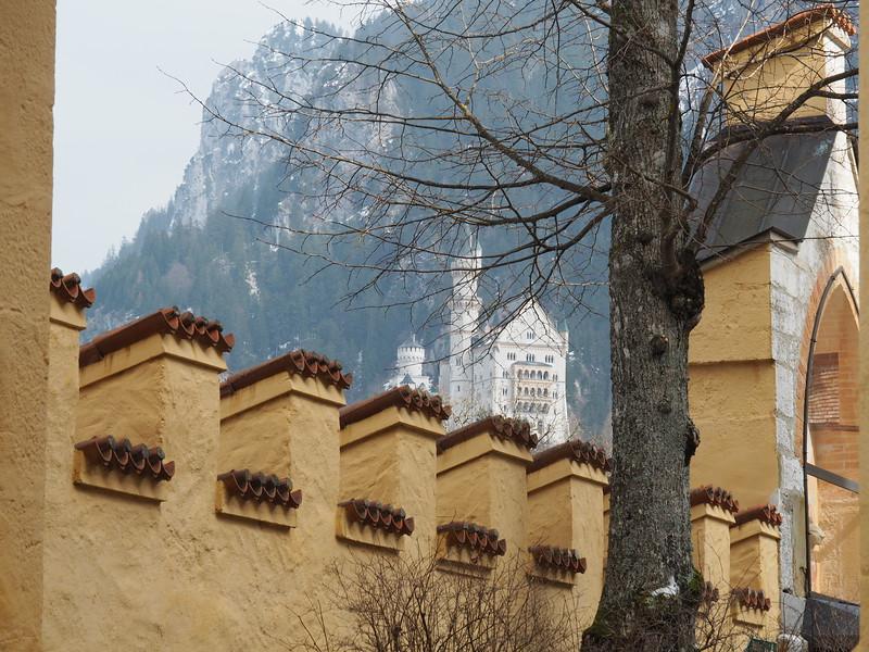 Neushwanstein Castle observed from Hohenshwangau Castle
