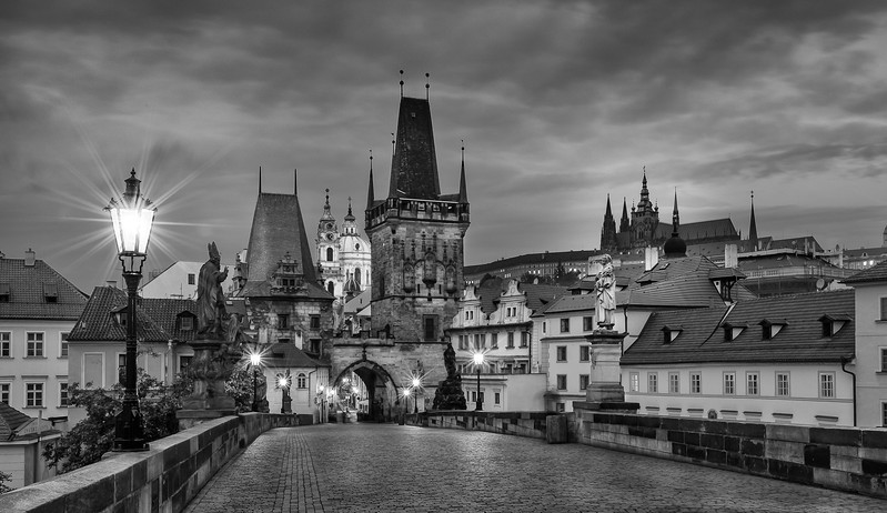 Charles Bridge; Castle; Prague; Czech Republic
