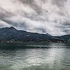 panoramic view of the mountain town of Tegernsee, in Bavaria