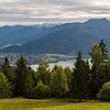 Tegernsee as see from the top of the mountain